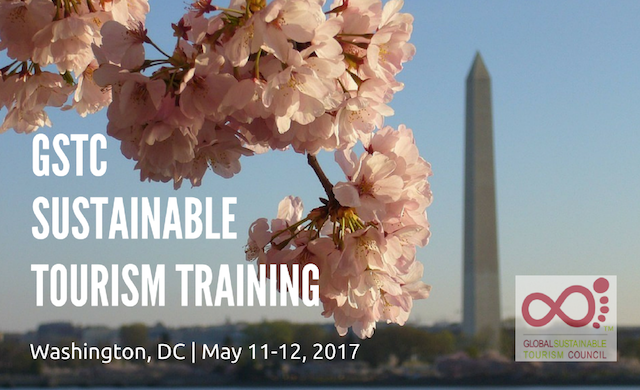 GSTC Sustainable Tourism Training Washington DC May 2017